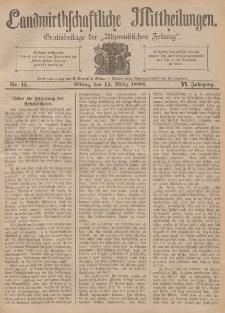 Landwirthschaftliche Mittheilungen, Nr 11, 14. März, 6 Jahrgang