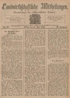 Landwirthschaftliche Mittheilungen, Nr 27, 11. Juni, 6 Jahrgang