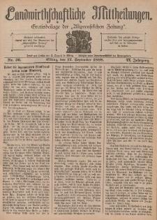 Landwirthschaftliche Mittheilungen, Nr 36, 12. September, 6 Jahrgang
