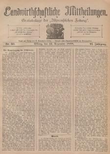 Landwirthschaftliche Mittheilungen, Nr 50, 12. Dezember, 6 Jahrgang