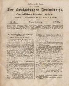 Der Königsberger Freimüthige, Nr. 4 Dienstag, 11 Januar 1848