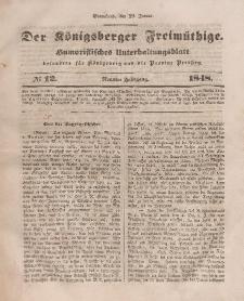 Der Königsberger Freimüthige, Nr. 12 Sonnabend, 29 Januar 1848