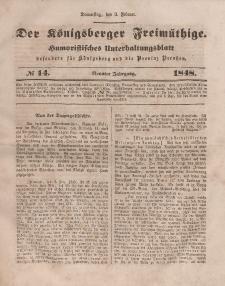 Der Königsberger Freimüthige, Nr. 14 Donnerstag, 3 Februar 1848