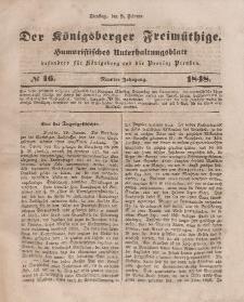 Der Königsberger Freimüthige, Nr. 16 Dienstag, 8 Februar 1848