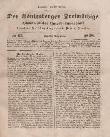 Der Königsberger Freimüthige, Nr. 17 Donnerstag, 10 Februar 1848