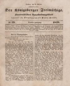 Der Königsberger Freimüthige, Nr. 19 Dienstag, 15 Februar 1848