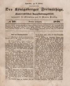 Der Königsberger Freimüthige, Nr. 20 Donnerstag, 17 Februar 1848