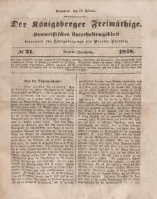 Der Königsberger Freimüthige, Nr. 21 Sonnabend, 19 Februar 1848