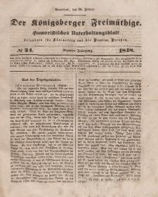 Der Königsberger Freimüthige, Nr. 24 Sonnabend, 26 Februar 1848