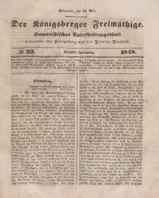 Der Königsberger Freimüthige, Nr. 33 Sonnabend, 18 März 1848