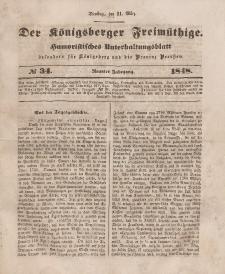 Der Königsberger Freimüthige, Nr. 34 Dienstag, 21 März 1848