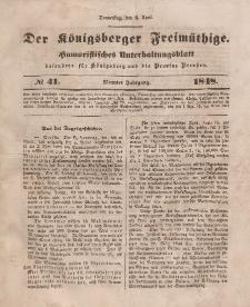 Der Königsberger Freimüthige, Nr. 41 Donnerstag, 6 April 1848