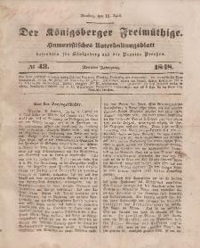 Der Königsberger Freimüthige, Nr. 43 Dienstag, 11 April 1848