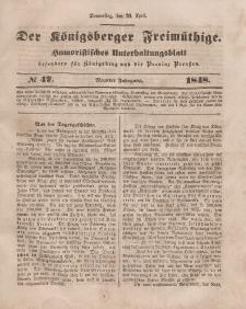 Der Königsberger Freimüthige, Nr. 47 Donnerstag, 20 April 1848