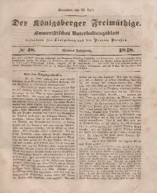 Der Königsberger Freimüthige, Nr. 48 Sonnabend, 22 April 1848