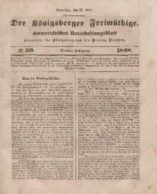 Der Königsberger Freimüthige, Nr. 50 Donnerstag, 27 April 1848