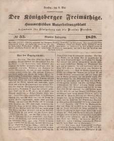 Der Königsberger Freimüthige, Nr. 55 Dienstag, 9 Mai 1848