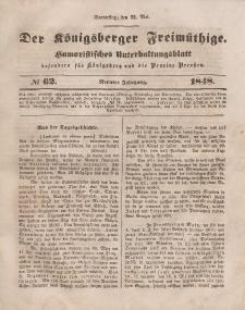 Der Königsberger Freimüthige, Nr. 62 Donnerstag, 25 Mai 1848