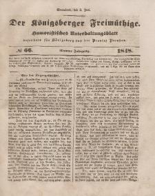 Der Königsberger Freimüthige, Nr. 66 Sonnabend, 3 Juni 1848