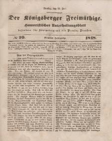 Der Königsberger Freimüthige, Nr. 70 Dienstag, 13 Juni 1848