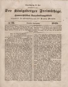 Der Königsberger Freimüthige, Nr. 71 Donnerstag, 15 Juni 1848