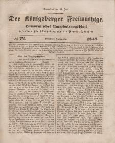 Der Königsberger Freimüthige, Nr. 72 Sonnabend, 17 Juni 1848