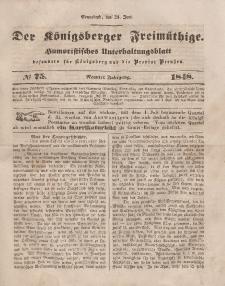Der Königsberger Freimüthige, Nr. 75 Sonnabend, 24 Juni 1848