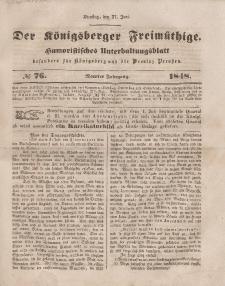 Der Königsberger Freimüthige, Nr. 76 Dienstag, 27 Juni 1848