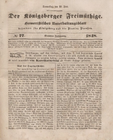 Der Königsberger Freimüthige, Nr. 77 Donnerstag, 29 Juni 1848