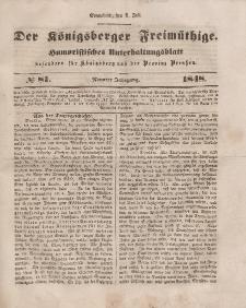 Der Königsberger Freimüthige, Nr. 81 Sonnabend, 8 Juli 1848