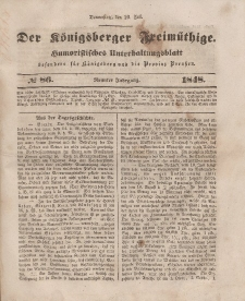 Der Königsberger Freimüthige, Nr. 86 Donnerstag, 20 Juli 1848