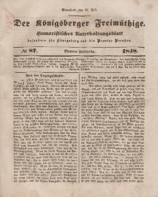 Der Königsberger Freimüthige, Nr. 87 Sonnabend, 22 Juli 1848