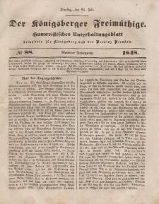 Der Königsberger Freimüthige, Nr. 88 Dienstag, 25 Juli 1848