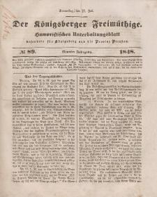 Der Königsberger Freimüthige, Nr. 89 Donnerstag, 27 Juli 1848