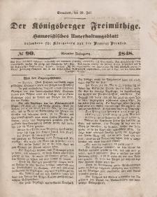 Der Königsberger Freimüthige, Nr. 90 Sonnabend, 29 Juli 1848