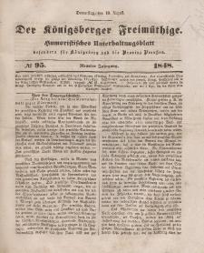 Der Königsberger Freimüthige, Nr. 95 Donnerstag, 10 August 1848