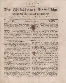 Der Königsberger Freimüthige, Nr. 116 Donnerstag, 28 September 1848