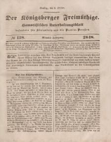 Der Königsberger Freimüthige, Nr. 118 Dienstag, 3 Oktober 1848