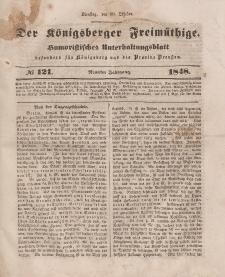Der Königsberger Freimüthige, Nr. 121 Dienstag, 10 Oktober 1848