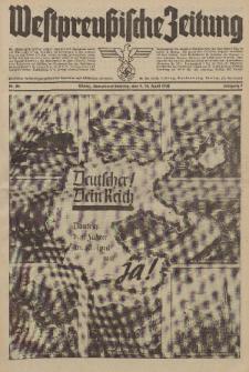 Westpreussische Zeitung, Nr. 84 Sonnabend/Sonntag 9/10 April 1938, 7. Jahrgang