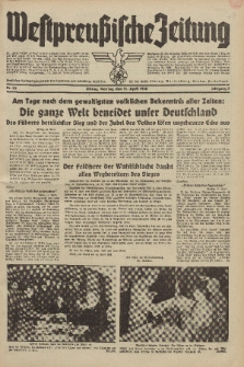 Westpreussische Zeitung, Nr. 85 Montag 11 April 1938, 7. Jahrgang