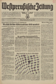 Westpreussische Zeitung, Nr. 86 Dienstag 12 April 1938, 7. Jahrgang