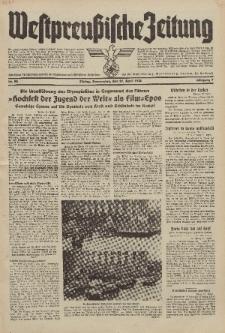 Westpreussische Zeitung, Nr. 92 Donnerstag 21 April 1938, 7. Jahrgang