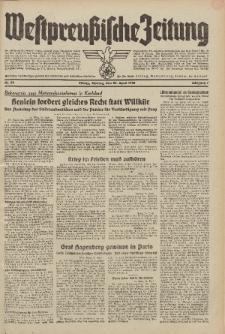 Westpreussische Zeitung, Nr. 95 Montag 25 April 1938, 7. Jahrgang