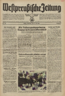 Westpreussische Zeitung, Nr. 142 Dienstag 21 Juni 1938, 7. Jahrgang