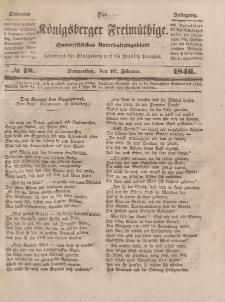 Der Königsberger Freimüthige, Nr. 18 Donnerstag, 12 Februar 1846