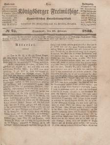 Der Königsberger Freimüthige, Nr. 25 Sonnabend, 28 Februar 1846