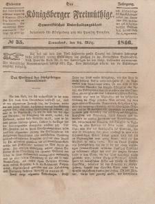 Der Königsberger Freimüthige, Nr. 35 Dienstag, 24 März 1846