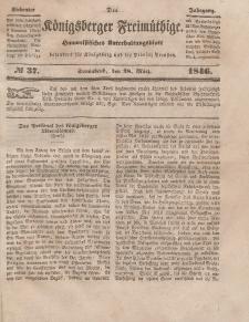 Der Königsberger Freimüthige, Nr. 37 Sonnabend, 28 März 1846