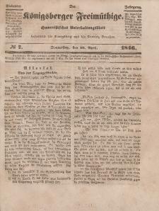 Der Königsberger Freimüthige, Nr. 7 Donnerstag, 16 April 1846